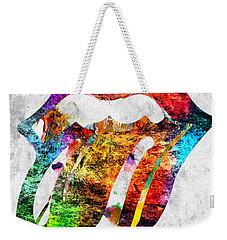 The Rolling Stones Logo Grunge Weekender Tote Bag