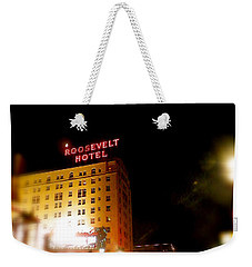 Weekender Tote Bag featuring the photograph The Roosevelt Hotel By David Pucciarelli  by Iconic Images Art Gallery David Pucciarelli