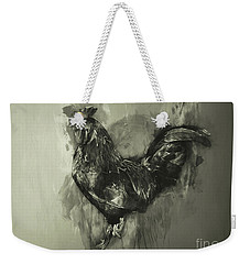The Rooster Monochrome Weekender Tote Bag
