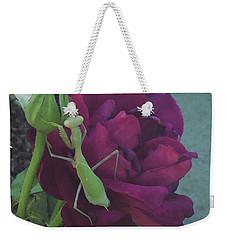 The Rose And Mantis Weekender Tote Bag