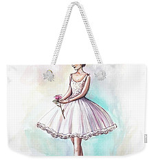 Weekender Tote Bag featuring the painting The Rose by Elizabeth Robinette Tyndall