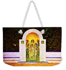 Weekender Tote Bag featuring the photograph The Rose In The Garden - Seville by Mary Machare