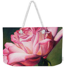 Weekender Tote Bag featuring the painting The Rose by Lori Brackett