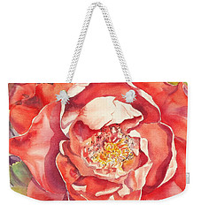 The Rose Weekender Tote Bag by Mary Haley-Rocks