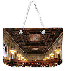 Weekender Tote Bag featuring the photograph The Rose Reading Room II by Jessica Jenney