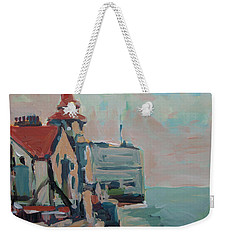 Weekender Tote Bag featuring the painting The Round Tower Of Portsmouth by Nop Briex