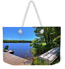 Weekender Tote Bag featuring the photograph The Rowboat On West Lake by David Patterson