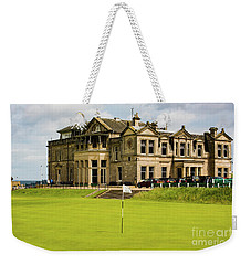 The Royal And Ancient Golf Club Of St Andrews Weekender Tote Bag by MaryJane Armstrong