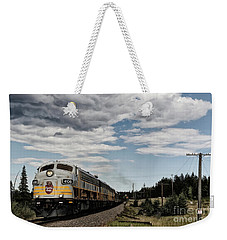 Weekender Tote Bag featuring the photograph The Royal Canadian Pacific  by Brad Allen Fine Art