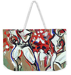 Weekender Tote Bag featuring the painting The Run by John Jr Gholson