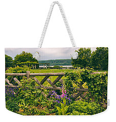 The Rustic Fence Weekender Tote Bag by Jessica Jenney