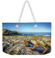 Weekender Tote Bag featuring the photograph The Rusty Steps by Gary Gillette
