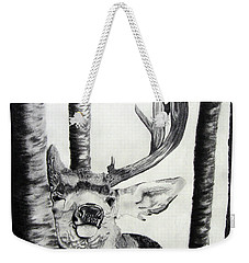 Weekender Tote Bag featuring the drawing The Rutt by Mayhem Mediums