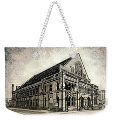 Weekender Tote Bag featuring the painting The Ryman by Janet King