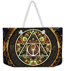 Weekender Tote Bag featuring the digital art The Sacred Alchemy Of Life by Iowan Stone-Flowers