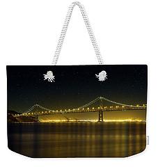 The San Francisco Oakland Bay Bridge At Night Weekender Tote Bag