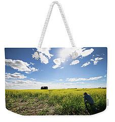 The Saskatchewan Prairies Weekender Tote Bag by Ryan Crouse