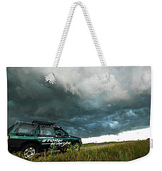 The Saskatchewan Whale's Mouth Weekender Tote Bag by Ryan Crouse