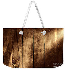 The Saw Weekender Tote Bag by American West Legend By Olivier Le Queinec