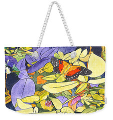 The Scarlet Peacock Weekender Tote Bag