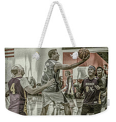 Weekender Tote Bag featuring the photograph The Scoop Shot by Ronald Santini