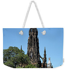 Weekender Tote Bag featuring the photograph The Scott Monument In Edinburgh, Scotland by Jeremy Lavender Photography