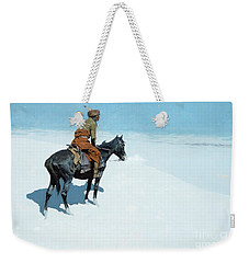 The Scout Friends Or Foes Weekender Tote Bag by Frederic Remington