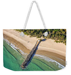 Weekender Tote Bag featuring the photograph The Sea Wall Near Noosa Main Beach by Keiran Lusk