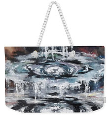 Weekender Tote Bag featuring the painting The Seals by Cheryl Pettigrew