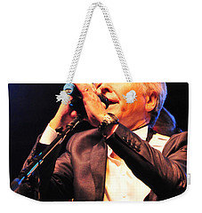 Weekender Tote Bag featuring the photograph The Searcher's Sensational Singer by Mike Martin