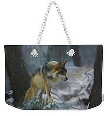 The Searching Wolf Weekender Tote Bag by Ernie Echols