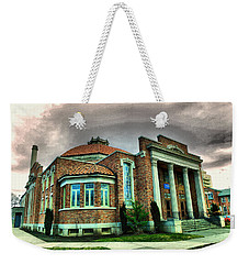 Weekender Tote Bag featuring the photograph The Seasons Performance Hall  by Jeff Swan