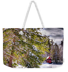 Weekender Tote Bag featuring the photograph The Secluded Boathouse by David Patterson