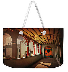 Weekender Tote Bag featuring the photograph The Secret Door In Basel Switzerland  by Carol Japp