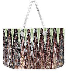 Weekender Tote Bag featuring the digital art The Secret Language Of Trees by Ann Johndro-Collins
