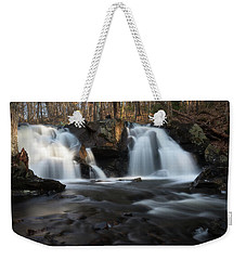 The Secret Waterfall In Golden Light Weekender Tote Bag
