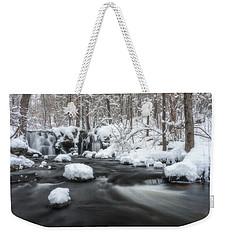 The Secret Waterfall In Winter 2 Weekender Tote Bag