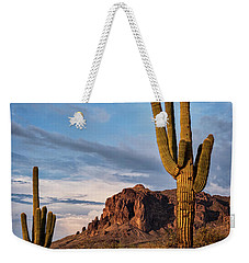 Weekender Tote Bag featuring the photograph The Sentinels Of The Supes In Color  by Saija Lehtonen