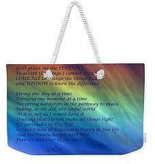 The Serenity Prayer Weekender Tote Bag
