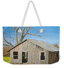 Weekender Tote Bag featuring the painting The Shack by Norm Starks