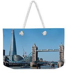 The Shard With Tower Bridge Weekender Tote Bag