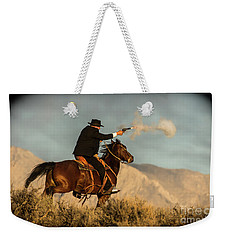 The Sharp Shooter Western Art By Kaylyn Franks Weekender Tote Bag