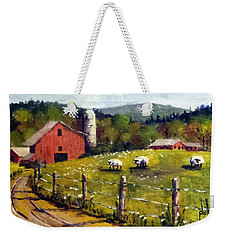 The Sheep Farm Weekender Tote Bag by Jim Phillips