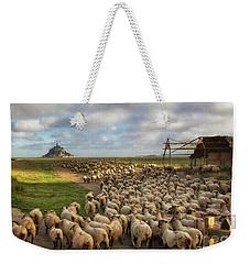 The Sheep Of Mont Saint Michel Weekender Tote Bag