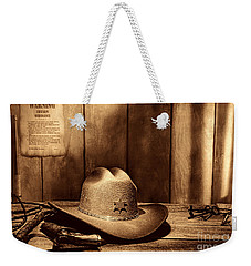 The Sheriff Office Weekender Tote Bag by American West Legend By Olivier Le Queinec