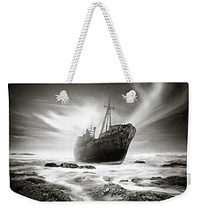 The Shipwreck Weekender Tote Bag by Marius Sipa