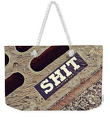 Weekender Tote Bag featuring the photograph The Shit You See In New York City by Bruce Carpenter