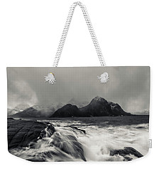 The Shore Of Winter Weekender Tote Bag by Alex Lapidus