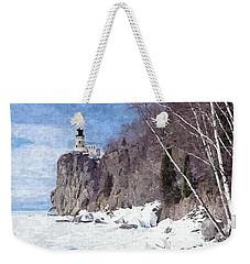 The Shoreline Lighthouse Weekender Tote Bag