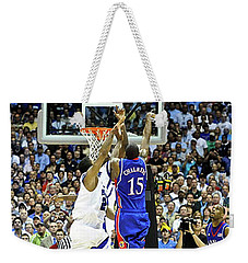 The Shot, 3.1 Seconds, Mario Chalmers Magic, Kansas Basketball 2008 Ncaa Championship Weekender Tote Bag by Thomas Pollart